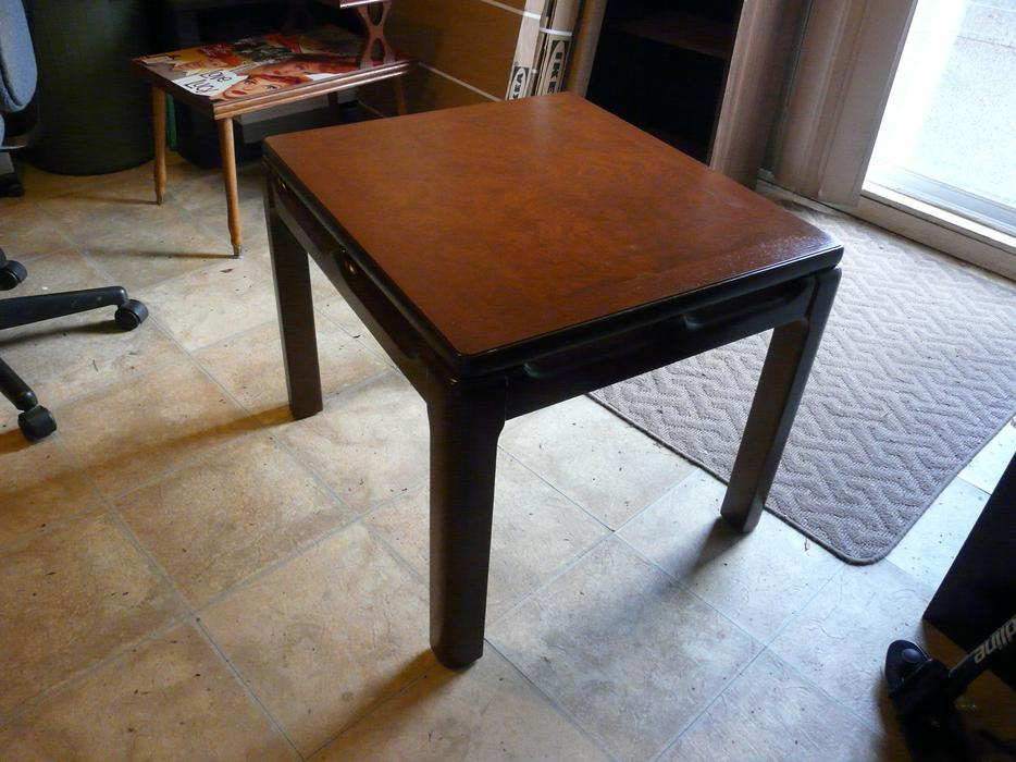 Mahogany hardwood side tables or coffee tables saanich for Coffee tables kelowna
