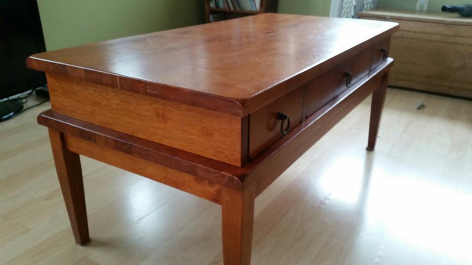 Solid Rubberwood Coffee Table Crofton Cowichan Mobile