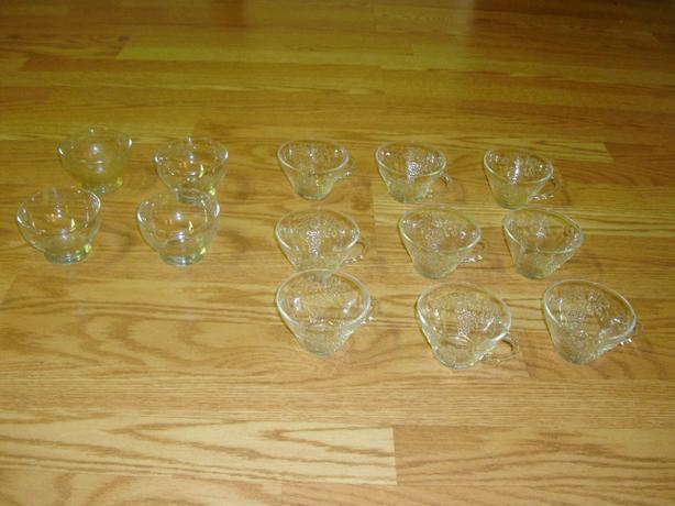 Like New 12 Piece set of Teacups and Bowls - $10 for all