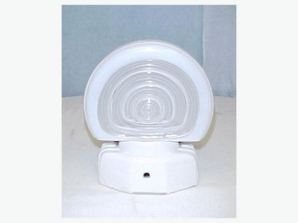Art Deco Wall Mount Bathroom Light Fixture Porcelain Glass Original Ladysmith Cowichan