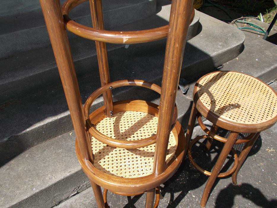 SET OF 3 VERY NICE THONET STYLE BENTWOOD BAR STOOLS WITH  : 46424318934 from www.usedvictoria.com size 934 x 700 jpeg 123kB
