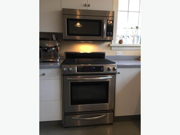 Kitchenaid Combination Gas Range Microwave Central