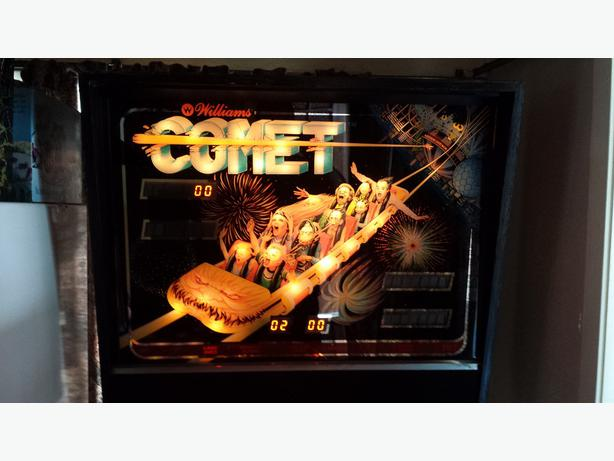 williams comet pinball machine for sale