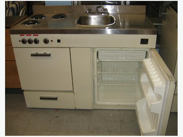 apartment size fridge stove and sink all in one esquimalt view royal
