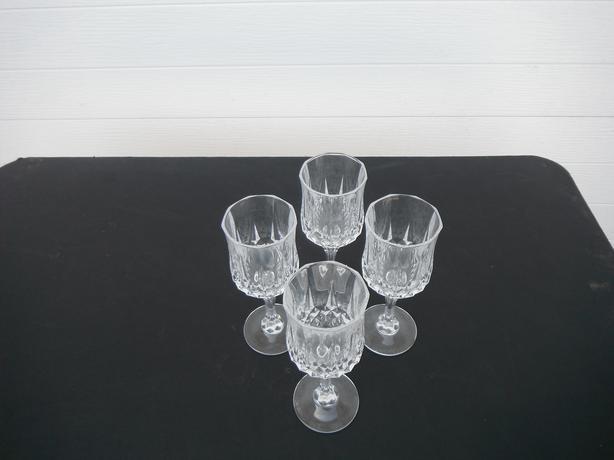 4 crystal wine goblets