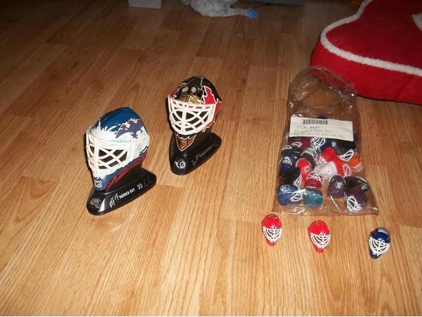 Mini mask set and goalie masks