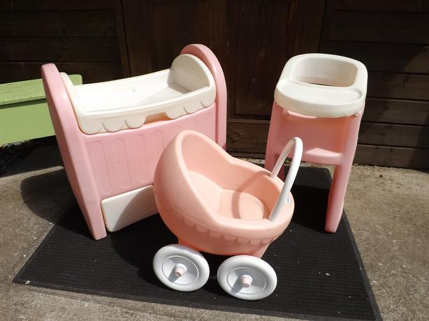 Little Tikes Original 3pc Baby Doll Set Buggy, Crib/drawer ...