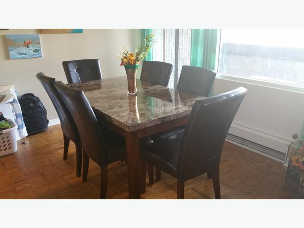 Marble Dining Table And 6 Chairs: THE BRICK With 6 Chairs Central