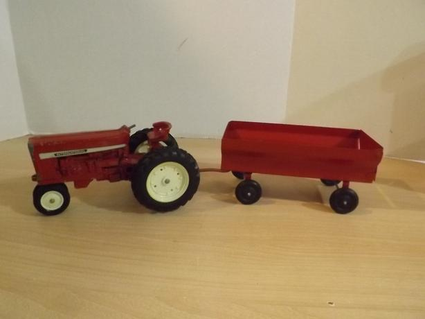 Antique International Tractor Wheel : Vintage international farm tractor trailer metal