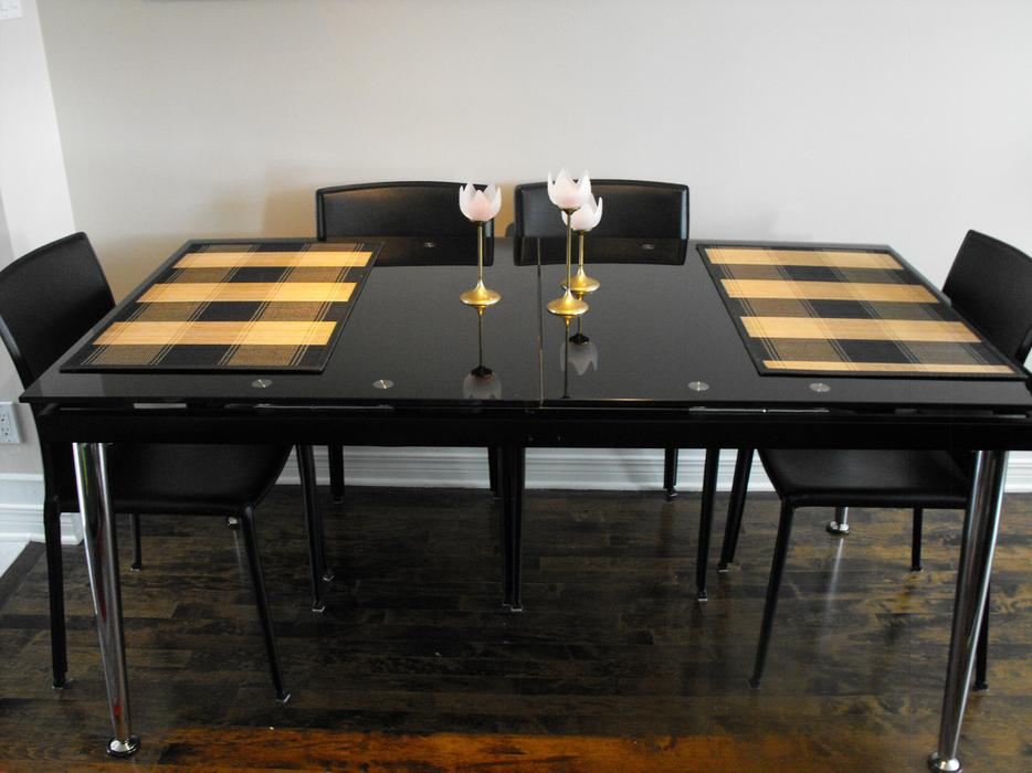 Dining Room Table Black Glass Central Ottawa Inside Greenbelt Ottawa