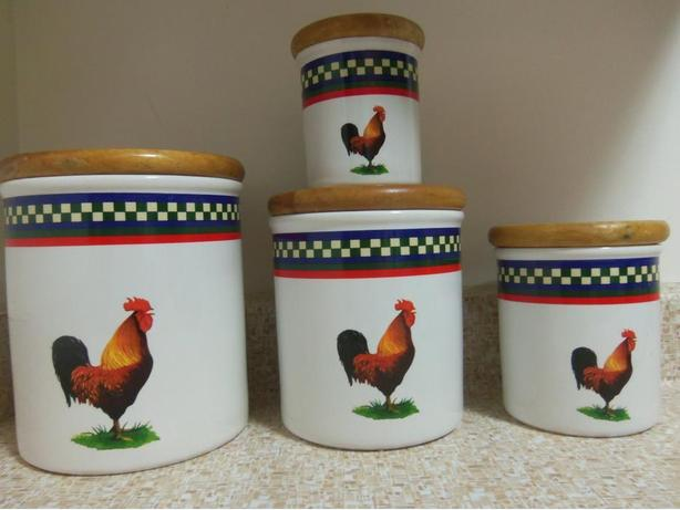 BOB TIMBERLAKE Rooster Canister set