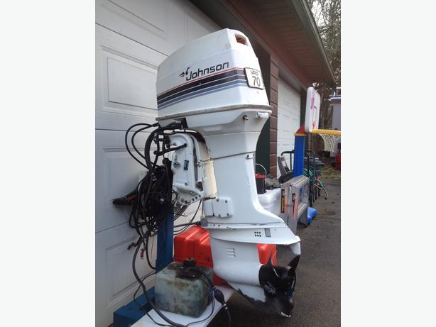 1985 johnson 70hp outboard motor outside victoria victoria for Power trim motor for johnson outboard