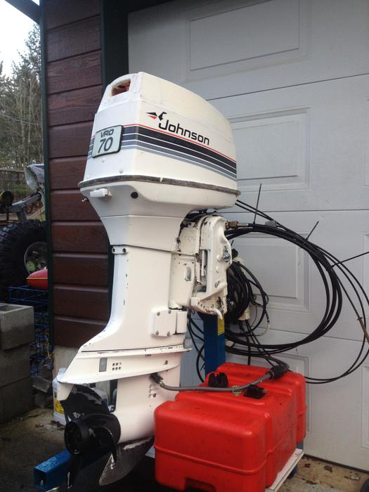 1985 Johnson 70hp Outboard Motor Outside Victoria Victoria