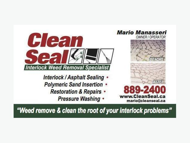 "CLEAN SEAL ""INTERLOCK WEED REMOVAL SPECIALIST"""