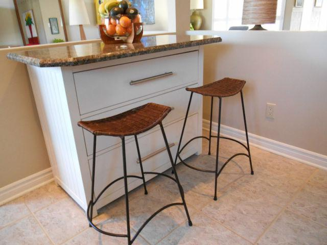 Pier One Import Wicker And Iron Bar Height Stools North