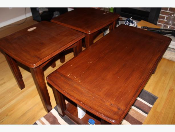 Coffee table 2 end tables north regina regina for Coffee tables regina
