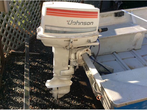 1995 johnson 25 Hp Outboard weight removal
