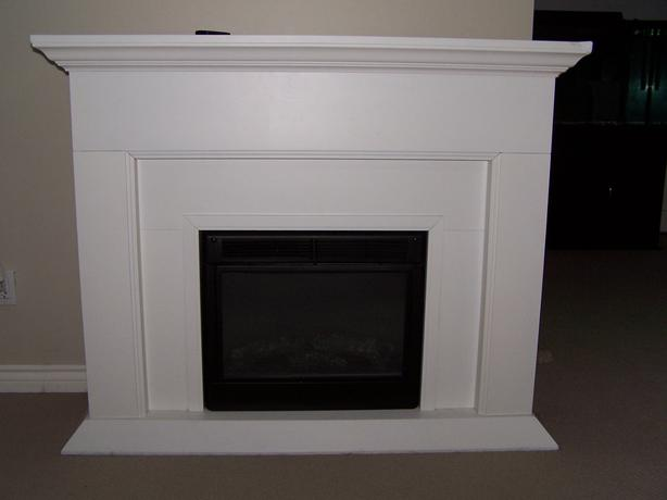large electric fireplace and mantle cbell river comox