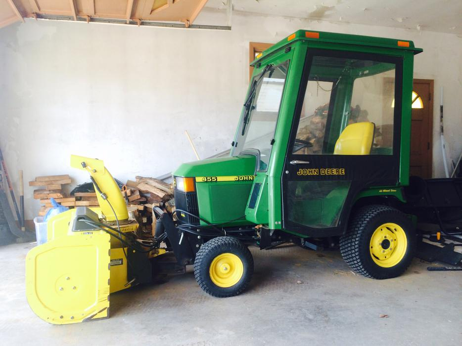 Thunder Bay Cab >> John Deere 455 AWS Diesel Tractor, Snowblower, Bagger, Cab Summerside, PEI