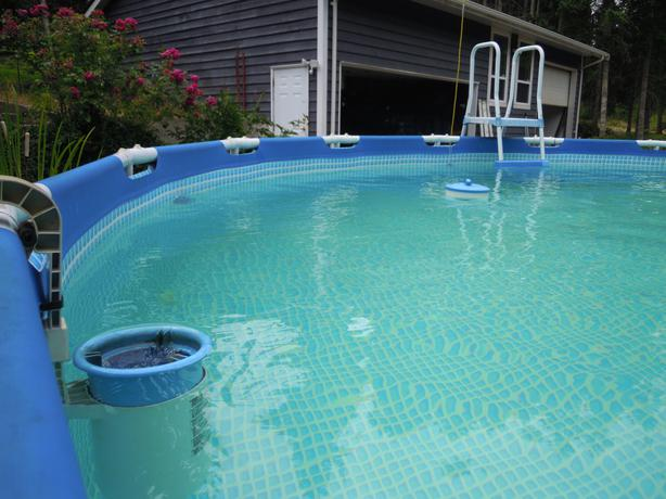 Intex 18 39 x 52 swimming pool nanoose bay parksville for Uses for old swimming pools