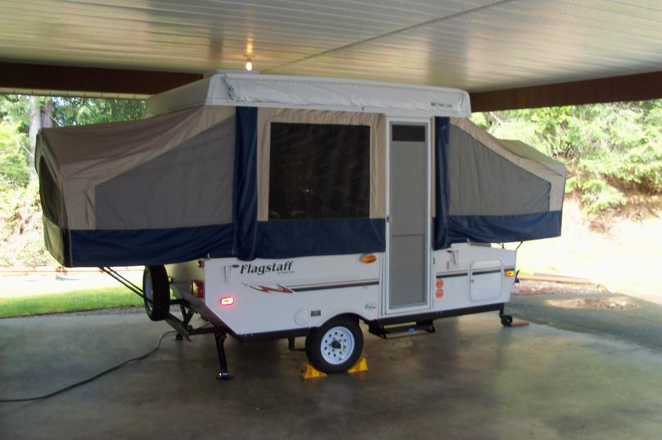 2008 Flagstaff 10 Ft Tent Trailer Outside Nanaimo