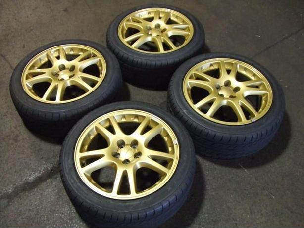 USE JDM SUBARU WRS STI VERSION 7 WHEELS 225/45R17