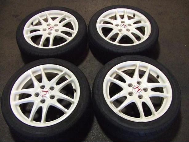 JDM ACURA RSX DC5 TYPE-R WHITE WHEELS 215/45R17 MAGS WITH TIRES
