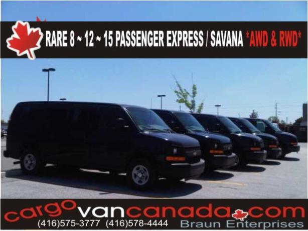 19 PASSENGER BUS, 8 12 & 15  2O14-08 *AWD & RWD* Express/Savana/Ford & CARGO VAN