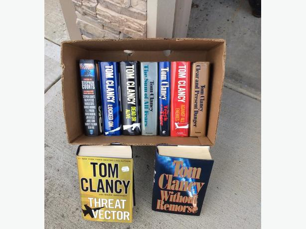 9 Tom Clancy Hardcover Books