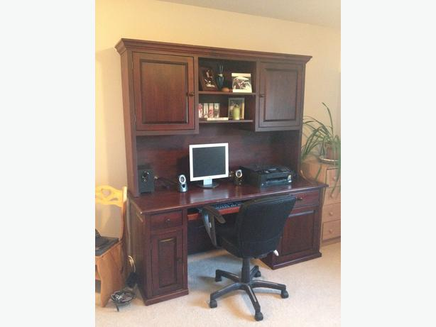 custom made solid wood computer desk moving and need it gone