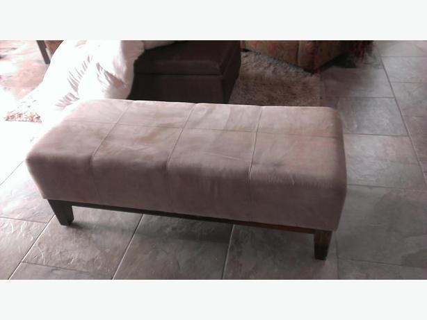 micro suede bench for end of bed ottoman north saanich. Black Bedroom Furniture Sets. Home Design Ideas