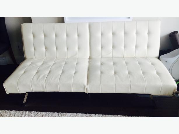 Modern Faux White Leather Futon Victoria City Victoria Mobile