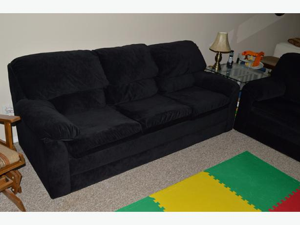 Black Microfiber Couch And Loveseat North Regina Regina