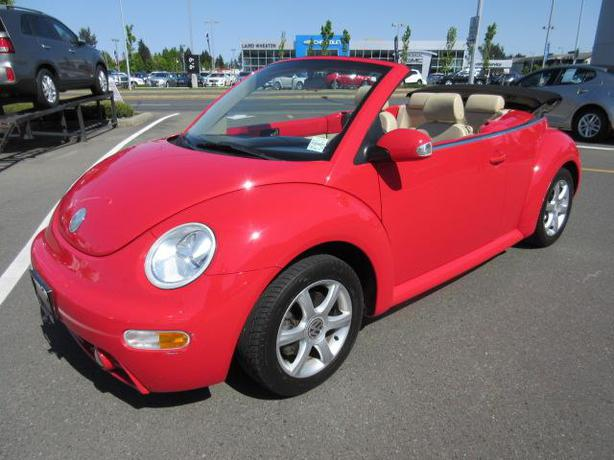 2004 volkswagen new beetle gls convertible outside nanaimo parksville qualicum beach. Black Bedroom Furniture Sets. Home Design Ideas