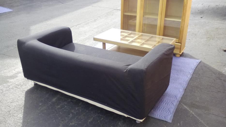 Ikea Sofa With Black Removable Velcro Cover Cheap Surrey