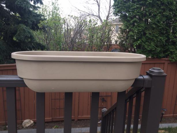 Rail planter great for privacy or decor deck or fence for Privacy planters for decks