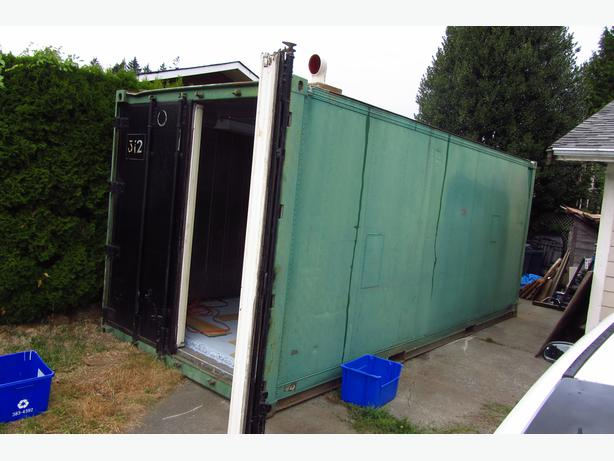 Man Cave Store Mississauga : Sea can refer unit plug and play outside cowichan