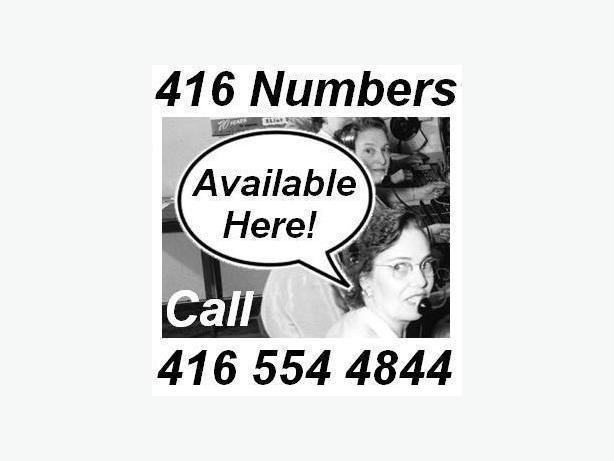 416 Area-Code Phone Numbers - make yourself look more established