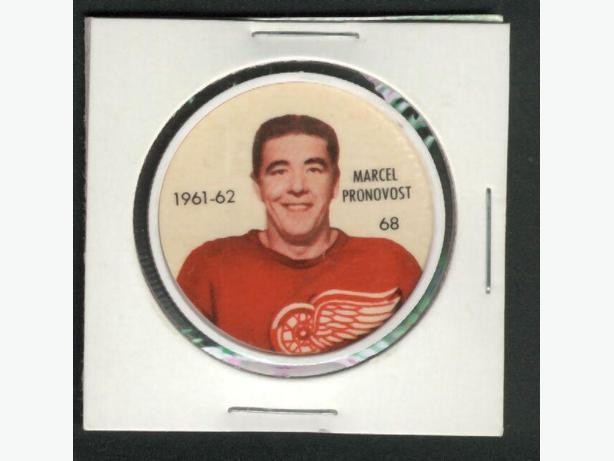 61/62 Salada Coin #68  Marcel Pronovost Detroit Red Wings