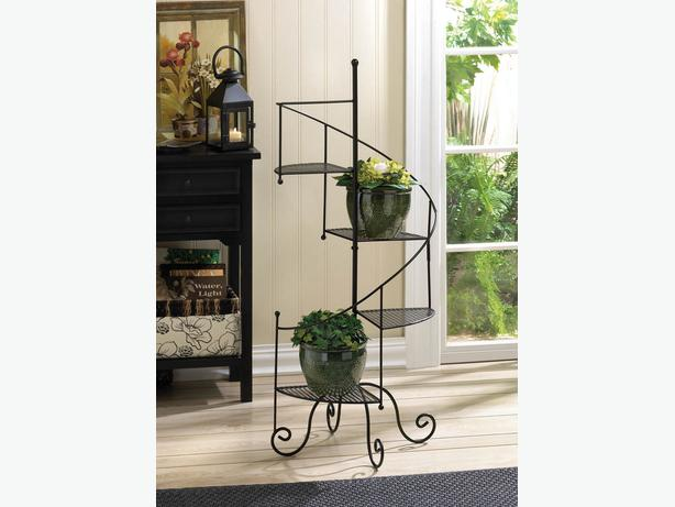 4 tier spiral staircase plant stand with mesh platforms 39 for 4 foot spiral staircase
