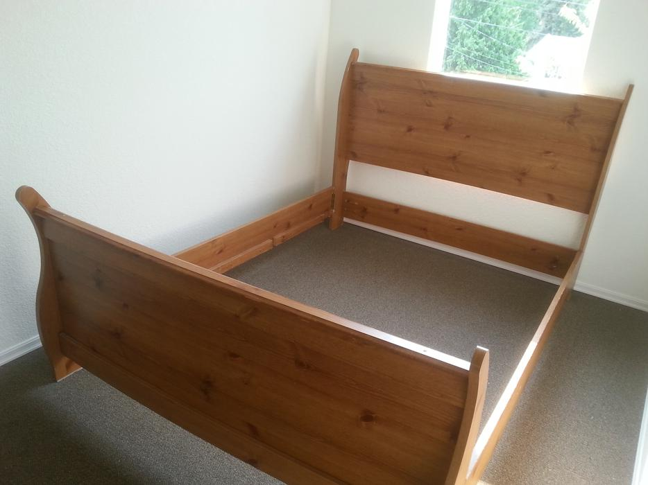 Queen Size Bed Frame Slege Type Head Board And Foot Board