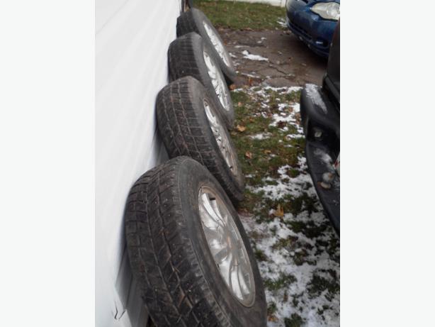 for sale or trade studded winter tires on ford rims summerside pei. Black Bedroom Furniture Sets. Home Design Ideas
