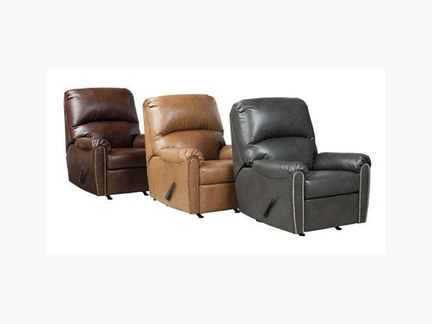 New Lottie Leather Rocker Recliner