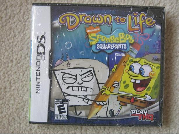 Sponge Bob Drawn To Life DS Game
