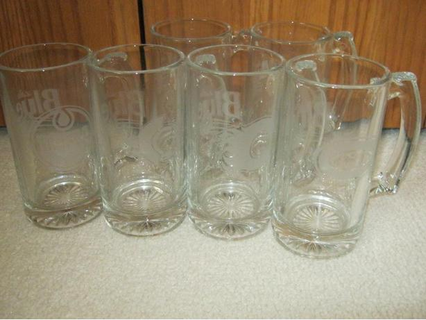 NHL Team Logo Labatts Beer Mugs