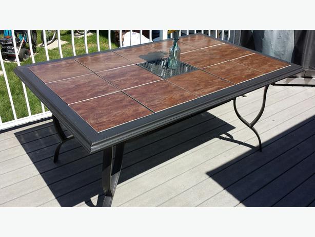 patio table 65 quot x 42 quot ceramic tile top south