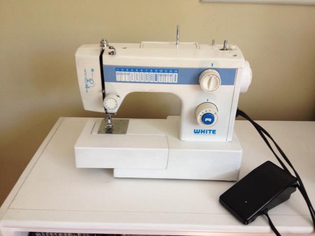 white brand sewing machine