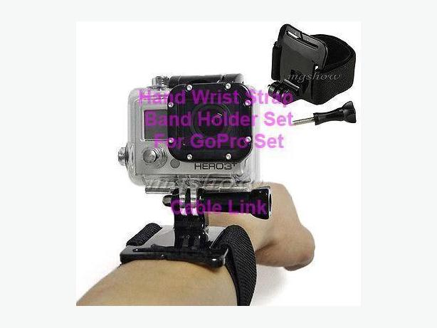 Hand Wrist Strap Band Holder Mount Set For GoPro Hero