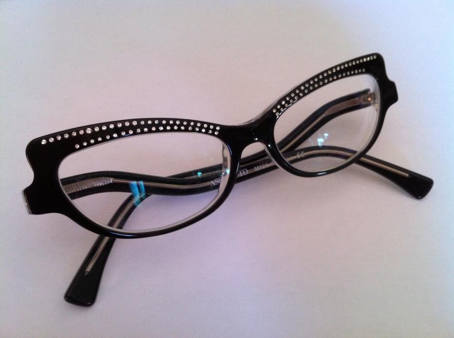 Italian Eyeglass Frame Designers : Assoluto Italian Designer Womens Black Eyeglass Frames ...
