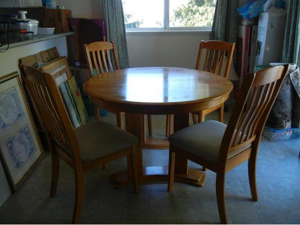 Intercon 39 Brand Dining Room Table With 4 Chairs North Nanaimo Nanaimo